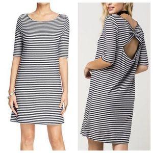 Free People • striped knit Open back dress